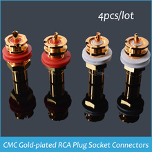 Sindax CMC Gold-plated RCA Plug Socket Connectors RCA connector Plug CMC-816-U for CD Player DIY Set of 4 pcs RCA Jack