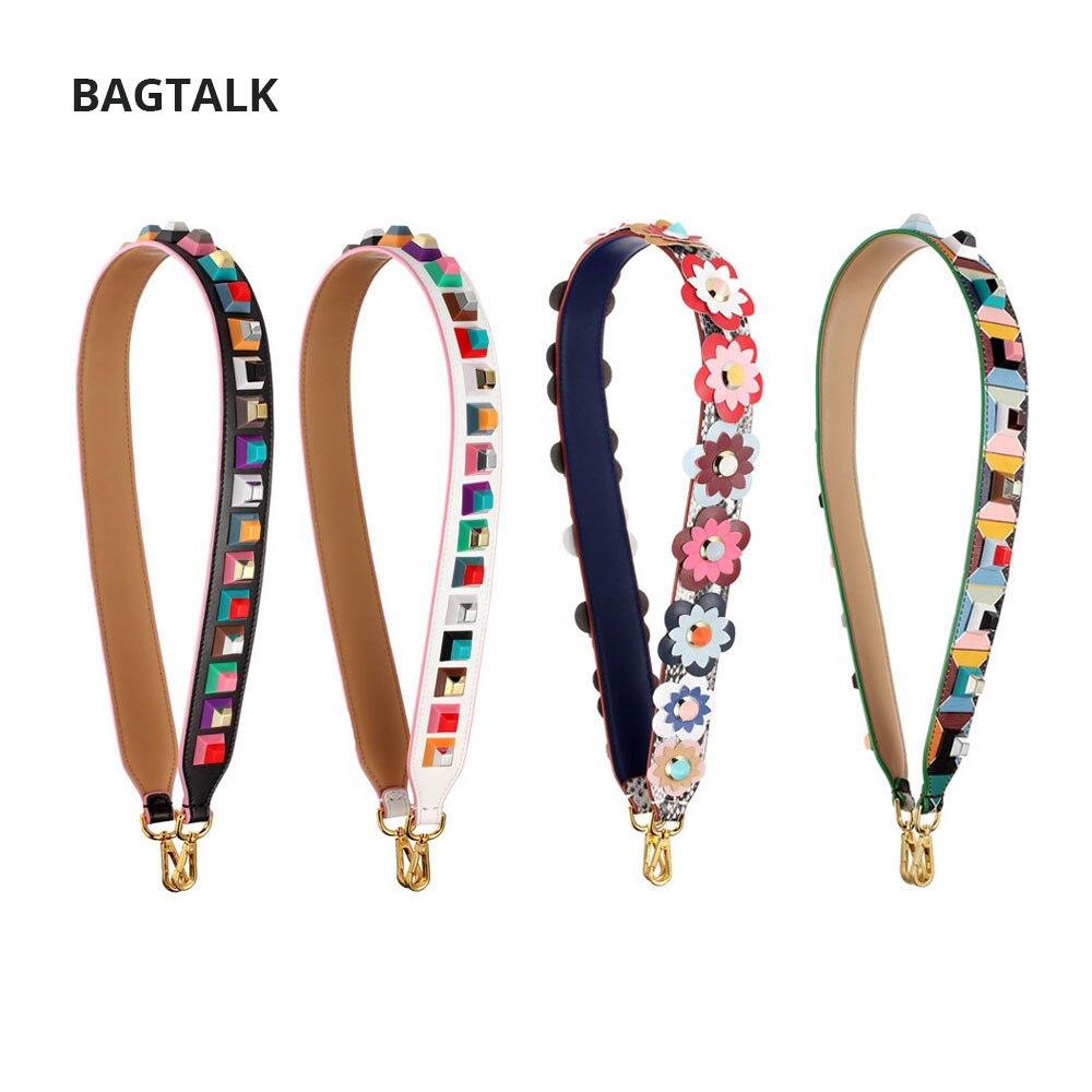 Cow Leather Fashion Handbag Strap Lady Rivet Handbags Belts Women Bags Strap Women Bag Accessory Bags Parts 2017<br>
