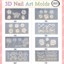 8pcs/lot Cute 3D Acrylic Mold for Nail Art DIY Decoration Design 8 Different Style