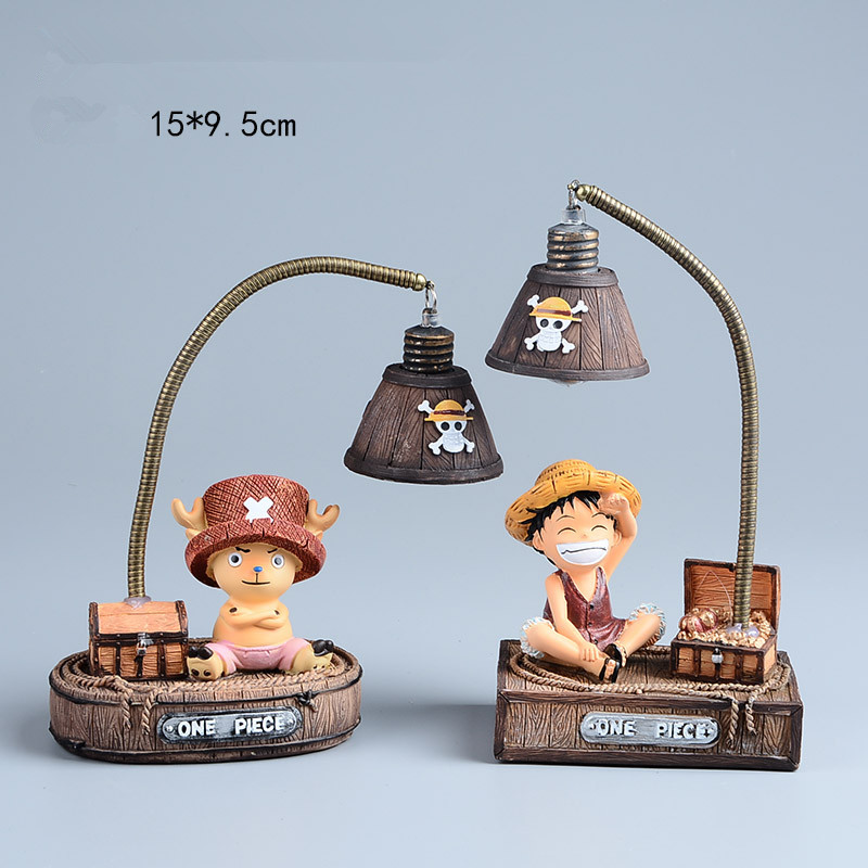 Anime One Piece Luffy &amp; Chopper Resin Toy , One Piece Figure Kids Toys with Led Night Light, Anime Brinquedos<br><br>Aliexpress