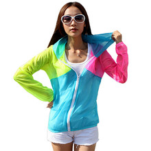 New Fashion Summer Autumn Women Jackets Thin Outwear Hoodies Hooded Long Sleeve Shirts Sun-Protect Coats Jacket female blusas