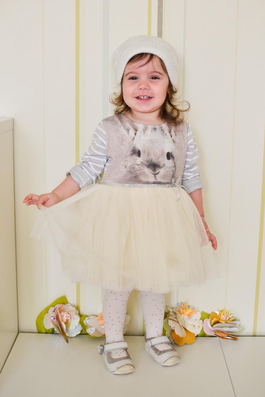 Платье с кролика