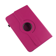 "Free Shipping 100pcs/lot 360 Degree Rotating Litchi Texture 9 inch Universal Tablet Skin Case Universal 9"" Cover Case"