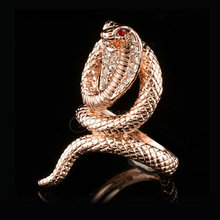 Jenia Cool Design Rose Gold Color Austrian Crystal Cobra Snake Ring for Women Ring XR325