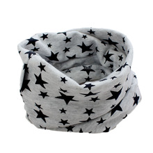 7colors  FreeShipping Kids Baby Scarf Stars Leave O-ring Cotton Scarf Neck Warmer Unisex Winter knitting stars Collar