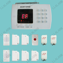 99 Zones Wireless PSTN Autodial Home Security Alarm System 433MHz Kit Panic Button