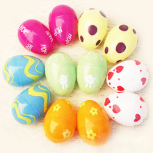 6pcs/pack New Foam Easter Eggs Picks On Sticks Kindergarden Party Decor Child Gift Hand Toy