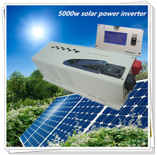 CE,RoHS,ISO9001 Approved, LCD screen 5000 watt dc48v to ac 220v low frequency home use air condition inverter 5000w