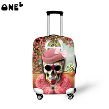 ONE2 new New products carton printed custom logo luggage cover good quality wholesale cheap 22,24,26 inch luggage cover