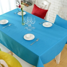 Simple style Table cloth 100% Cotton size 23''/35''/55''/70''/78''/86'' Accpet Custom Machinery wash 4 color option