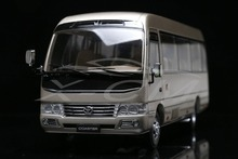 Diecast Bus Model Toyota Coaster Business Van Minibus 1:24 (Gold) + SMALL GIFT!!!!!