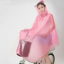 Fashion Transparent Raincoat Cycling Rain Cover Waterproof Bicycle Rain Capes PVC Raincoats(China)