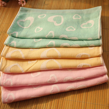 Kid Child Soft Cotton Absorbent Love Heart Small Bath Face Towel Washcloth