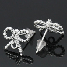 LASPERAL Bow Tie Stud Earrings Fit  Charms Chain For Women DIY Drop Earring Jewelry Making Supplies Handmade Jewelry For Lover