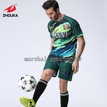 Free shipping,MOQ 5pcs,2016 Newest hot sale design,fully sublimation custom soccer jersey for men,dark green(China)