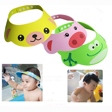 Adjustable Soft Kids Children Baby Shampoo Bath Shower Cap Hat Wash Hair Waterproof Shield(China)