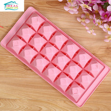 Hot Sale 18 Cup Creative Diamond Shape Ice Cube Tray Mould DIY Chocate Pudding Jelly Maker Refrigerator Tools Home
