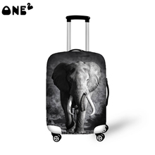 ONE2 popular design luggage bags travel cover 22,24,26 inch luggage cover animal pattern fashion children trolley case cover