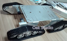 T900 crawler smart car 4 x 4 metal tank chassis Wall-e robot chassis for remote tank control,tank design competition
