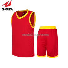 Ten Colors 2016 Latest Hot sale Solid edging light board Basketball sportswear For Men Uniforms