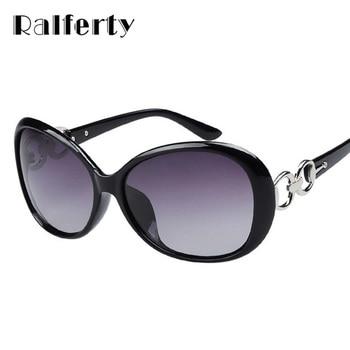 Ralferty Polarizadas Óculos De Sol Mulheres Polaroid Óculos UV400 Moda Óculos de Sol Feminino Oculos Shades Óculos Preto marrom vermelho 2115