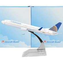 American Continental Airlines model plane Boeing 737 16cm alloy metal model plane toy airplane models Birthday gift