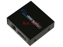 Hot sale 1080P 2 Ports HDMI Splitter 1.4 HDMI Splitter 3D 1 x 2 HDMI Splitter 5V Power Supply 1 In 2 Out Switcher For HDTV(China)
