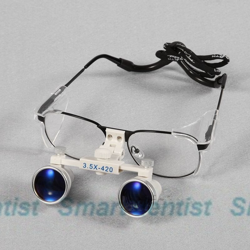 2016   New Dental 3.5x Binocular Loupes Magnifying Surgical Glasses Optical 420mm<br>