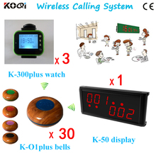 Fashion Nice Design Electronic Number Display K-236 With Watch K-300plus And Button K-O1plus Waiter Server Paging Service System