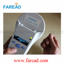 Popular product 134.2KHz ISO11784/5 FDX-B or HDX, ID64  RFID reader Animal handheld scanner  for livestock identification
