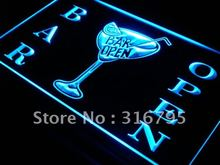 s031 Bar Open Beer Cocktails Pub LED Neon Light Sign On/Off Switch 7 Colors