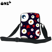 ONE2 design color ghost pattern fashionable single shoulder messenger nylon bag for girls