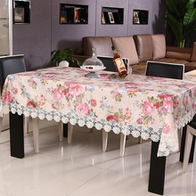 New Pastoralism  Polyester and Satin Peony flower embroidery Table Cloth Tablecloth Table Cover High Quality  Free Shipping#S710