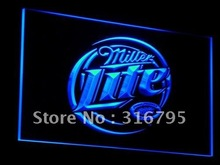 a016 Miller Lite Beer Displays logos LED Neon Light Sign Wholesale Dropshipping On/ Off Switch 7 colors DHL