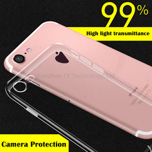 Full Camera Protection Soft Tpu Case Cover  For iPhone 7 7 Plus 6s 6s Plus with dustproof plug design