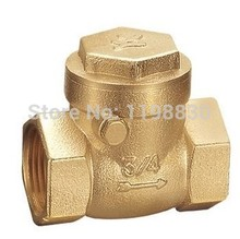 "free shipping DN15 Thread Swing Check Valve Brass 1/2""  3/4""BSPP High Pressure"