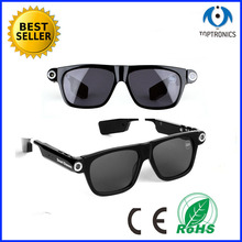 2016 Smart sun Glasses with Dial/Answer Call and record Video Carmera Smart Electronic Wearable glasses Sunglass Smart Glasses(China)
