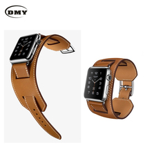 Original for Apple Watch Band Strap Genuine Leather Classic Buckle 38 mm or 42 mm Watchband Strap for Apple Watch soft lined hot