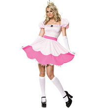 Sleeping Beauty Dress Halloween Peach Costume Women Costumes for Adult Pink Princess Game Uniform