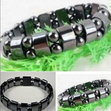 Charming Jewelry Black Magnetic Hematite Healing Unisex Loose Beads Bracelet Gifts Drop Shipping BL-0258