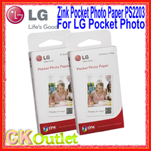 60 Sheets Pcs LG Pocket Photo Paper Zink PS2203 + Free Gift Smart Mobile Printer Paper For LG PD221 PD233 PD239