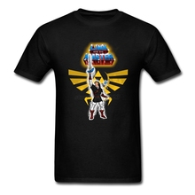 Men T-shirt Great White Short Sleeve Custom Tee Shirts Man Link And The Master Sword Guys Tops Tee