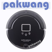 Multifunctional robot vacuum cleaner for home,sonic wall,2  brush,UV,LCD,rechargeable vacuum cleaner