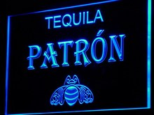 a143 Tequila Patron Bar Pub Beer LED Neon Sign with On/Off Switch 7 Colors to choose
