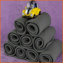 NewBorn Bamboo Charcoal Inserts 400PCS Free shipping Small Size Bamboo Diaper Liners(China)
