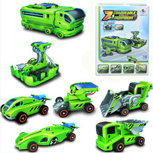 Solar energy equipment DIY Deformation base green car team science and education Puzzle experiment solar energy assembled toys