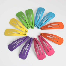 12pcs/lot 3cm children Solid color Hairpin Hair Clips headwear girls Multicolor Lovely small hair pin Barrette Hair Accessaries