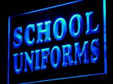 j084 School Uniforms Supply Shop Lure LED Neon Light Sign Wholesale Dropshipping On/ Off Switch 7 colors DHL
