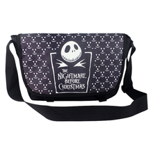 Polyester shoulder bag printed with another simple badge of Jack Skellington of The Nightmare Before Christmas Type B