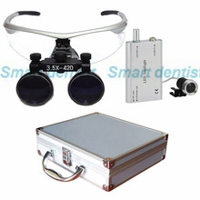 2016 Metal box 3.5X times enlarger dental amplify operate loupe led head light operating magnifier surgical amplification(China)